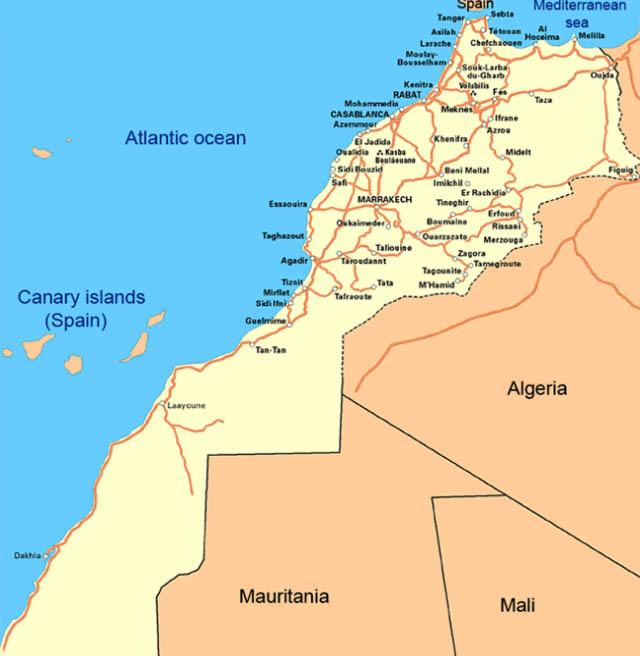 Agadir Marocco Cartina.Fez A Marrakech E Camel Trekking